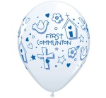 BALONY LATEKSOWE KOMUNIJNE FIRST COMMUNION SYMBOLS BOY 25SZT