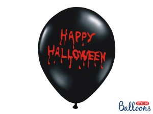 BALONY 30CM HAPPY HALLOWEEN PASTEL BLACK