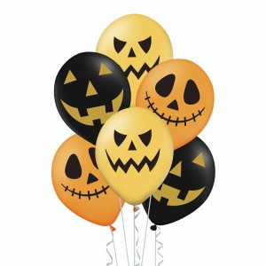 "BALONY 12"" NA HALLOWEEN MIX 6SZT"