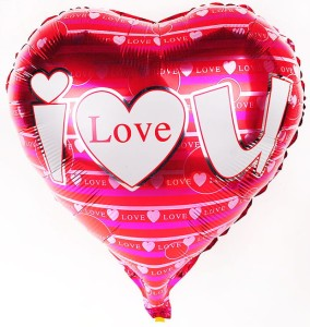 "BALON NA HEL FOLIOWY  18"" LOVE NEW"