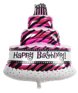 BALON FOLIOWY HAPPY BIRTHDAY TORT 47X28CM
