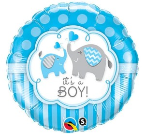 "BALON 18"" IT'S A BOY SŁONIK"