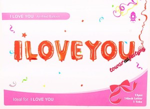 BALON FOLIOWY NAPIS I LOVE YOU 6D34