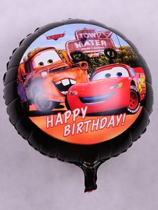 "BALON 18"" CARS HAPPY CZARNY"