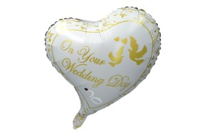 "BALON 18"" ŚLUBNY WEDDING DAY"