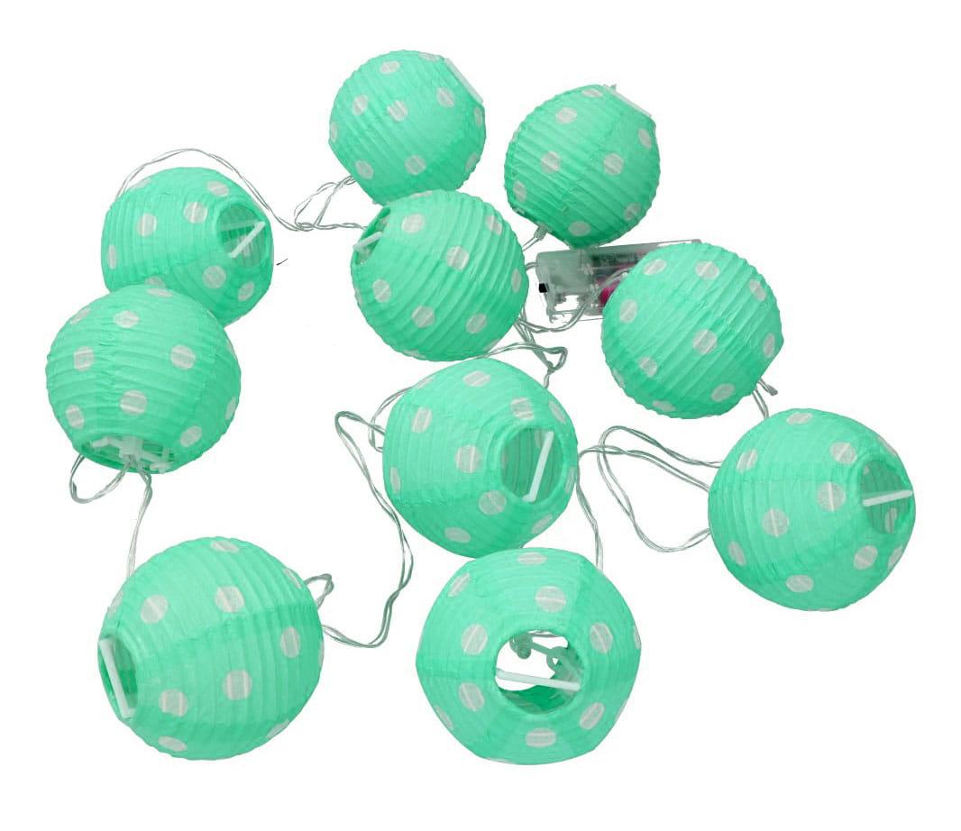 Lampiony świetlne Kule Dekoracyjne Zielone Na Baterie