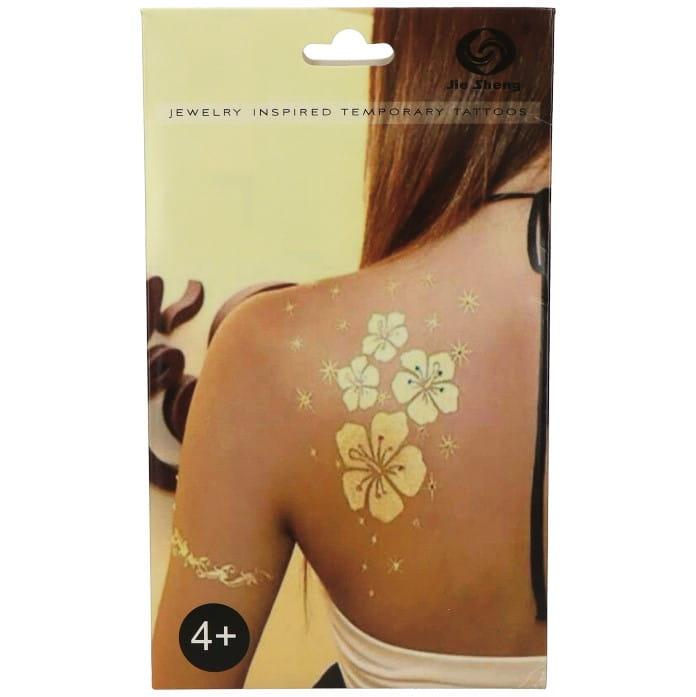 Małe Tatuaże Złoto Srebrne Czarne 4w1